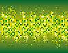 抽象的绿色马赛克背景 | 向量插图