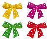 五颜六色的蝴蝶结 | 向量插图