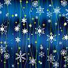 圣诞背景,白色的雪花 | 向量插图