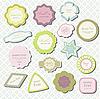 Element dekoracji klasyczny labels | Stock Illustration