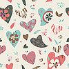 Serca kwiaty wzór | Stock Vector Graphics