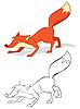 Zorro rojo | Ilustración vectorial