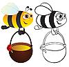 꿀 꿀벌   Stock Vector Graphics