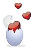 Ei und Valentinstag