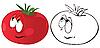 Tomate de dibujos animados | Ilustración vectorial
