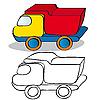 Samochód zabawka dla dzieci | Stock Vector Graphics