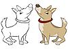 Perro gracioso | Ilustración vectorial