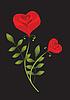 ID 3053872 | Stylizowane czerwone róże | Klipart wektorowy | KLIPARTO