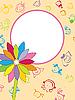 Rahmen mit Blumen und lächelnden Kindern | Stock Vektrografik