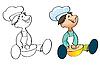 Poco cocinero | Ilustración vectorial