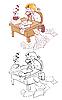 Escritor | Ilustración vectorial