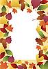 Rahmen von Herbstblättern | Stock Vektrografik
