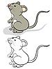 Funnu ratón | Ilustración vectorial