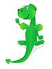 lustiger grüner Drache