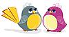 有趣的鸟类 | 向量插图