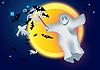 ID 3056117 | Привидение, летучие мыши и луна | Иллюстрация большого размера | CLIPARTO