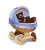 Perambulator z bear cub | Stock Illustration