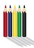 Kolorowe kredki | Stock Vector Graphics