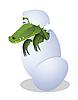 Krokodil und Ei