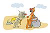 Myszy i kotów | Stock Vector Graphics