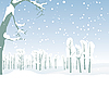 ID 3079485 | Winterlandschaft | Stock Vektorgrafik | CLIPARTO