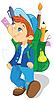 ID 3079505 | Chłopak z plecakiem | Klipart wektorowy | KLIPARTO