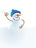 크리스마스 눈사람과 눈싸움 | Stock Vector Graphics