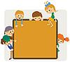 Kinder-Rahmen für Ankündigung | Stock Vektrografik
