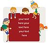 Dzieci ramki do powiadomienia | Stock Vector Graphics