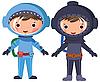 Astronaut und Taucher