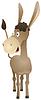 Spaßkarikatur Esel