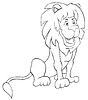 Cartoon-Löwe