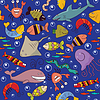Nahtlose - Unterwasser-Tierwelt