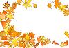 Herbstrahmen aus Blättern