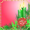 ID 3052303 | Weihnachtskarte mit Kerzen | Stock Vektorgrafik | CLIPARTO