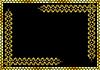 goldener Rahmen mit Ornament
