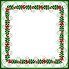 ID 3052757 | Zielona ramka z liści i jagód | Klipart wektorowy | KLIPARTO