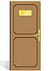 hölzerne Tür
