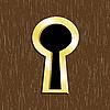 金色金属门锁孔 | 向量插图