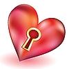 ID 3062657 | Herz mit Schlüsselloch | Stock Vektorgrafik | CLIPARTO