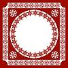 rosa Rahmen mit ethnischem Ornament