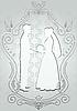 Silhouetten von Braut und Bräutigam in einem Rahmen