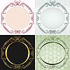 ID 3109581 | Okrągłe ramki w stylu antycznym | Klipart wektorowy | KLIPARTO