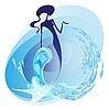 Meerjungfrau auf Wellen