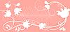 复古花环白花 | 向量插图