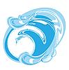 干净的水 | 向量插图