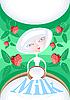 Frische Milch mit Erdbeeren