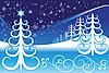 Stilisierte Winterlandschaft