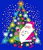 Santa Claus und Weihnachtsbaum