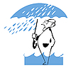 ID 3140446 | Człowiek pod parasolem | Klipart wektorowy | KLIPARTO